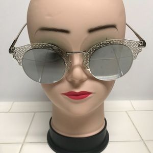 New Silver round Lace Vintage Metal Sunglasses